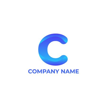 C design. simple and modern  for your company or business. C  gradient