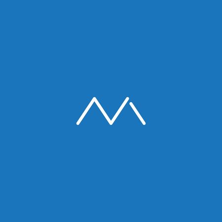 Letter M logo. simple and modern initial letter M logo with blue