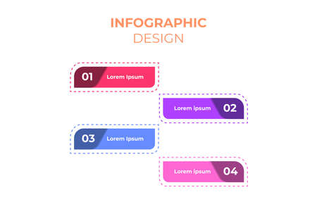 4 step template infographic design. Good for business, marketing, education and presentation Illusztráció