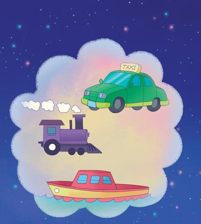 Transport illustration Banco de Imagens