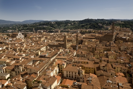 Aerial view of the city of Firenze, Italy Standard-Bild