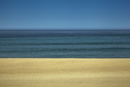 A view of an empty beach Standard-Bild