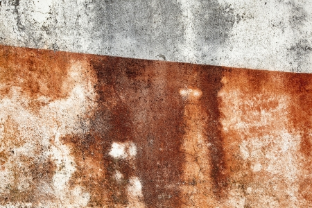 Grunge and textured red and white wall
