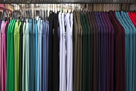 A group of coloured t-shirts