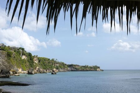 beautiful coastal scenery along the Bali coastline. Archivio Fotografico - 133663898