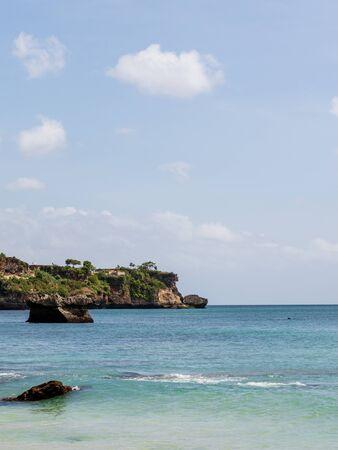 beautiful coastal scenery along the Bali coastline. Archivio Fotografico - 133664057