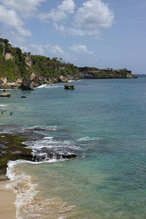beautiful coastal scenery along the Bali coastline Archivio Fotografico - 133664287