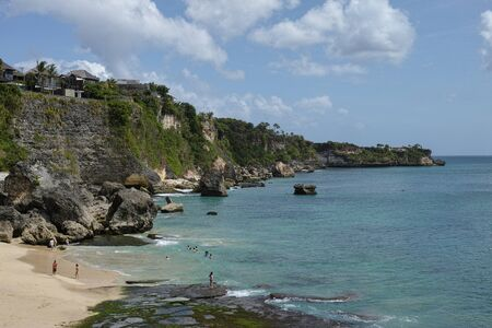 beautiful coastal scenery along the Bali coastline Archivio Fotografico - 133664288