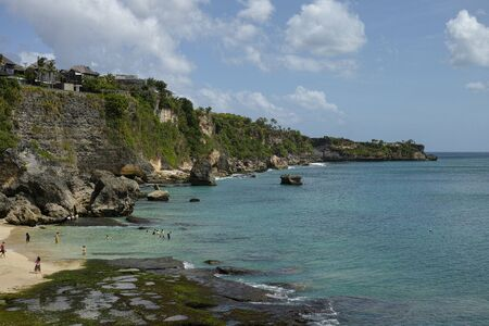 beautiful coastal scenery along the Bali coastline Archivio Fotografico - 133811313
