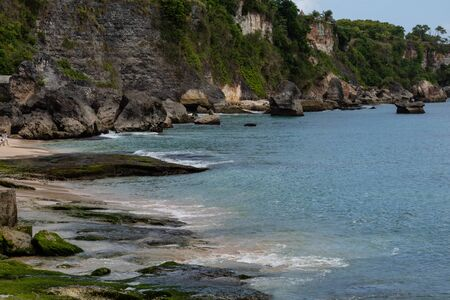 beautiful coastal scenery along the Bali coastline Archivio Fotografico - 133812222