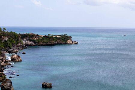 beautiful coastal scenery along the Bali coastline Archivio Fotografico - 134651334