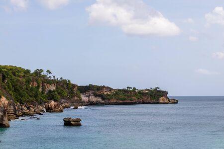 beautiful coastal scenery along the Bali coastline Archivio Fotografico - 134651341
