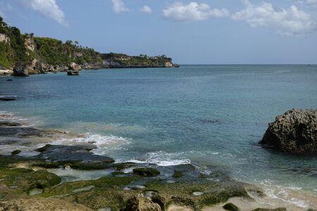 beautiful coastal scenery along the Bali coastline Archivio Fotografico - 134651355