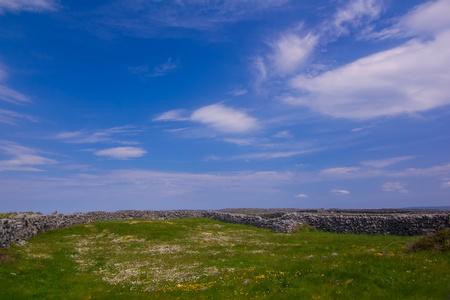 A peaceful blue sky in island Inisheer, Ireland