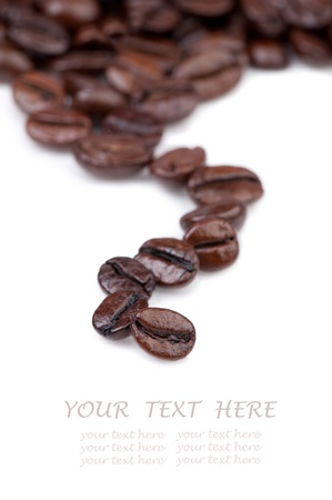 intensely: Intensely dark coffee beans.  Copy space for your text Stock Photo