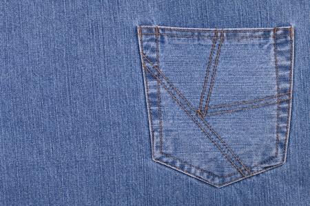 Poche de jeans. Copie d'espace sur le moindre photo