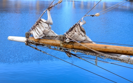 bowsprit: Bowsprit of a sailing vessel Stock Photo