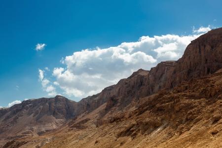 judaean: Mountains in Judaean desert in Israel Stock Photo