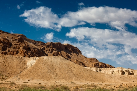 Mountains in Judaean desert in Israel photo
