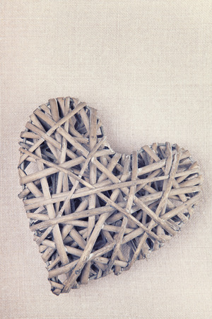 A handmade heart made from twigs photo