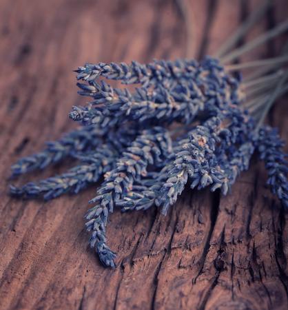 rustic  wood: Lavender flower on rustic wood