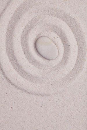 white pebble: Spiral in the white sand  with white pebble