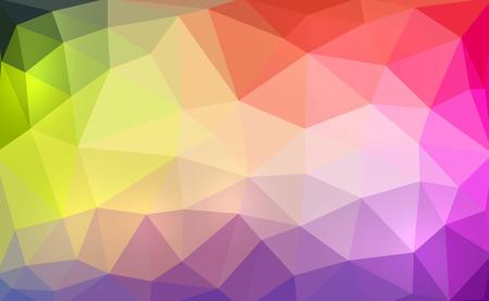 saturation: The illustration design Colorful polygon