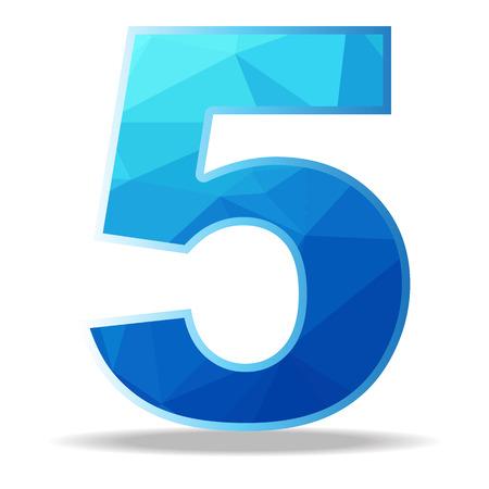 The illustration design Number Colorful polygon. Çizim