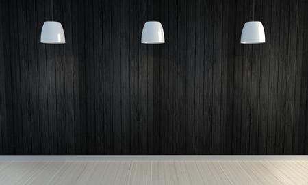 Fondo di legno della parete nera
