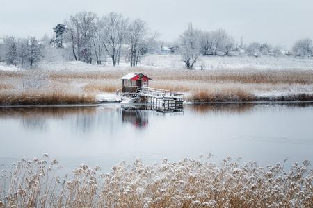 The first snow fell Banco de Imagens
