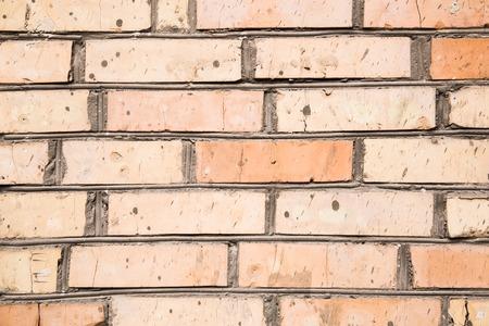Orange brick wall. Brick wall texture pattern or brick wall background Stock fotó
