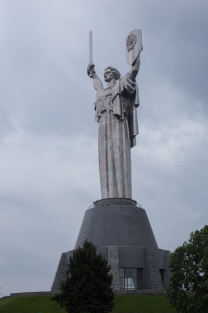 Statue of the Motherland, in Kiev, Ukraine. Banco de Imagens