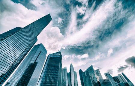 hight tech: modern business center in Singapore