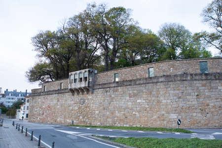 External view of the 'San Carlos Garden', in the old town of Coruna, Galicia, Spain