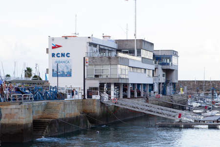 Coruña, Spain.Facilities of the Real Yacht Club of La Coruña next to the shelter dock on November 09,2019