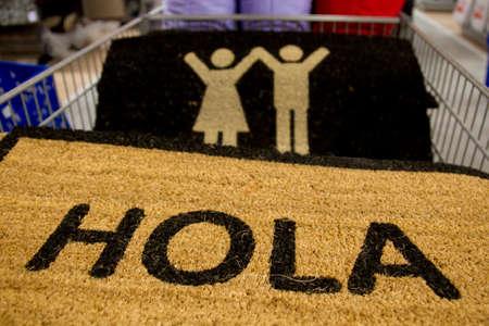 Doormat with the word