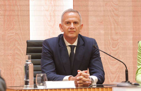 Arteixo (A Coruna), Spain, July 16, 2019 Carlos Crespo (CEO of Inditex) in general meeting of shareholders of Inditex on July 16, 2019