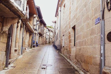 Street view of Allariz, a typical vintage village in Galicia