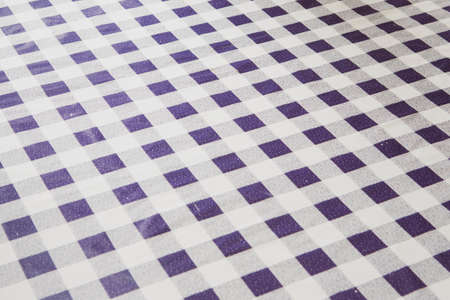 blue and white plaid antique tablecloth background