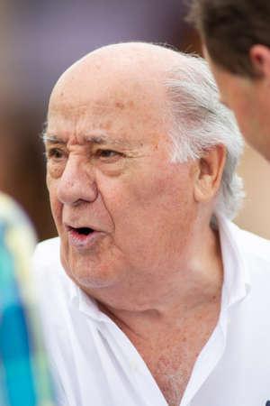 ARTEIXO, SPAIN - JULY 21. Portrait of Amancio Ortega Gaona, founder of Inditex (Zara empire) on July 21,2019 in Arteixo, Spain.