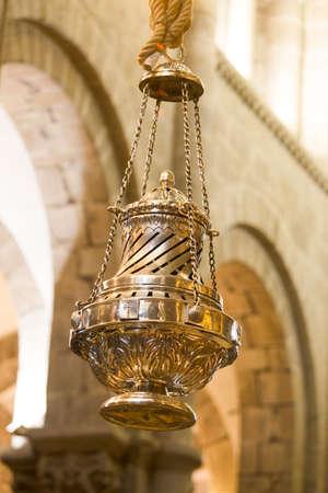 Big censer Botafumeiro in the Cathedral of Santiago de Compostela