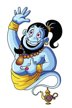 jinn: Azul Genie Vectores