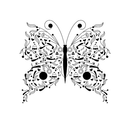 buterfly: buterfly vector illustration Illustration