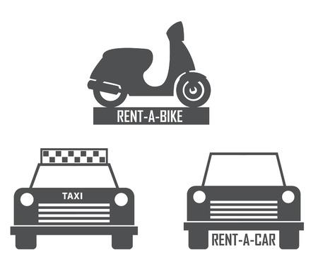 rent: transportation rent icon Illustration