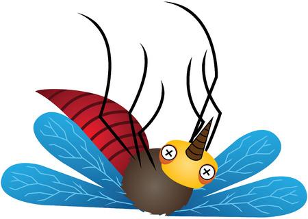 mosquitoes: Mosquito Cartoon Vector Illustration