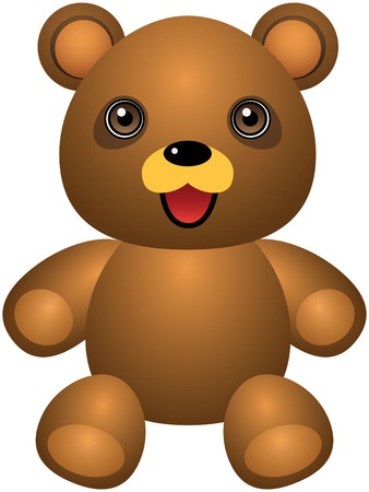 angry teddy: Teddy Bear Vector Cartoon Illustration