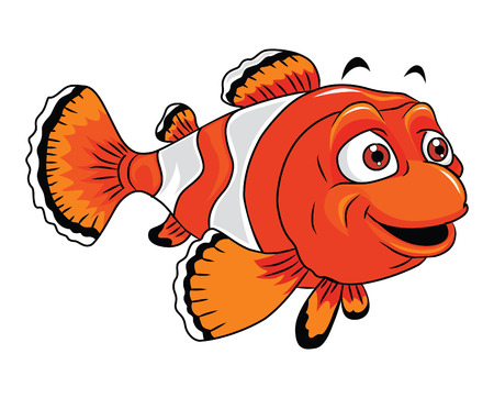 anemonefish: Clown Fish Cartoon Illustration