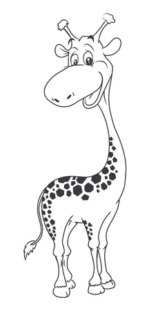 girafe: Girafe Cartoon Illustration Illustration