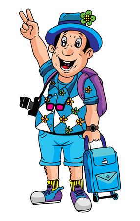 tourist: Tourist Illustration