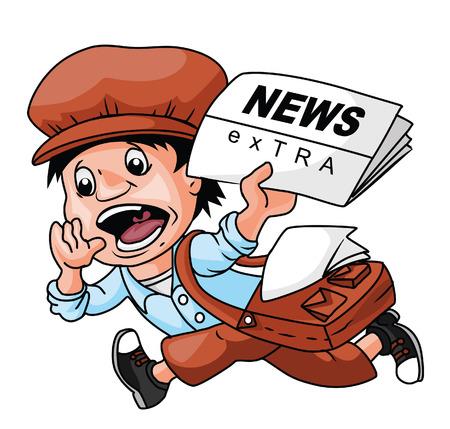 Paper Boy Stock Illustratie